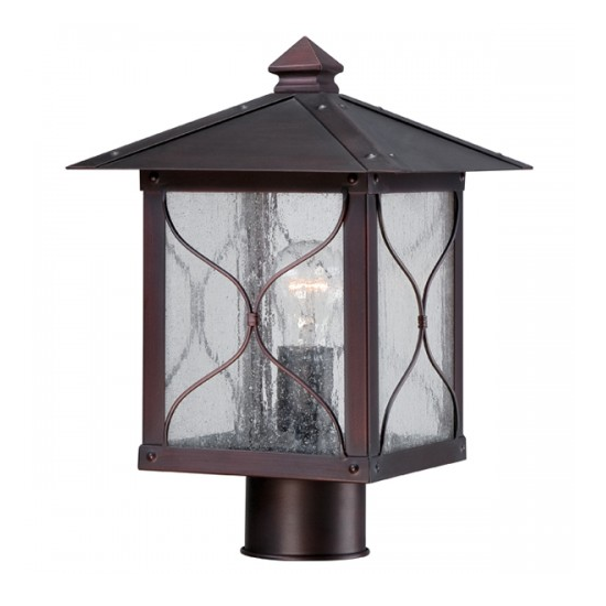 Classic Bronze 1 Edison Light Outdoor Post Fixture