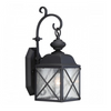 "Textured Black 1 Edison Light 6"" Outdoor Wall Fixture"
