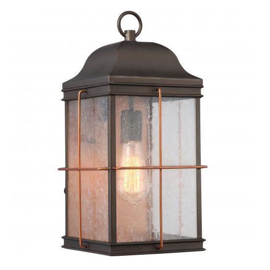 Bronze with Copper Accent 1 Edison Light Large Outdoor Wall Fixture