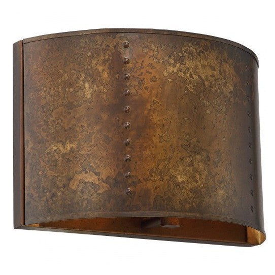 Kettle Weathered Brass Finish 1-Lights Wall Sconce