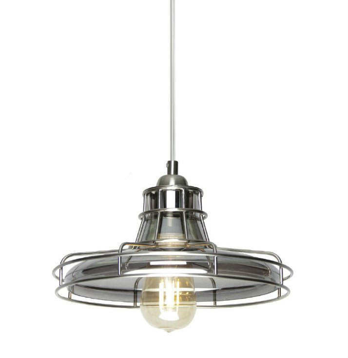 Nostalgic Smoke Glass Cage Pendant Lamp