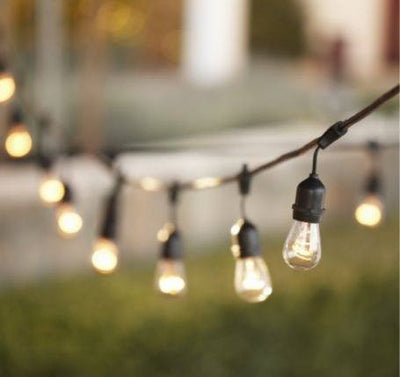 Exceptional String Patio Lights 48 Ft.   24 Sockets   Commercial Grade