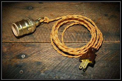 Twisted Gold Antique Cord Lamp