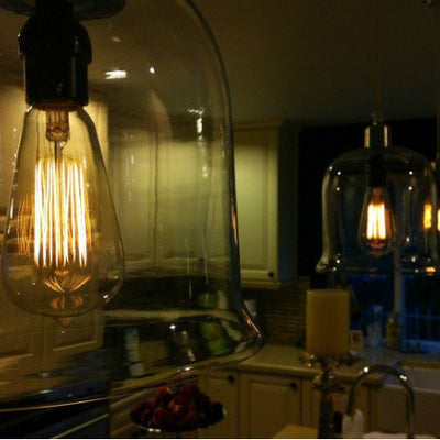 Edison Style Light Bulb In Kitchen