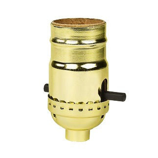 Push Through Gilt Brass Lamp Socket