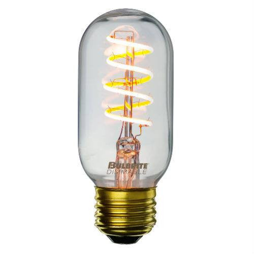 Curved LED Spiral Filament Edison Radio Bulb - 4 Watt - 2200K