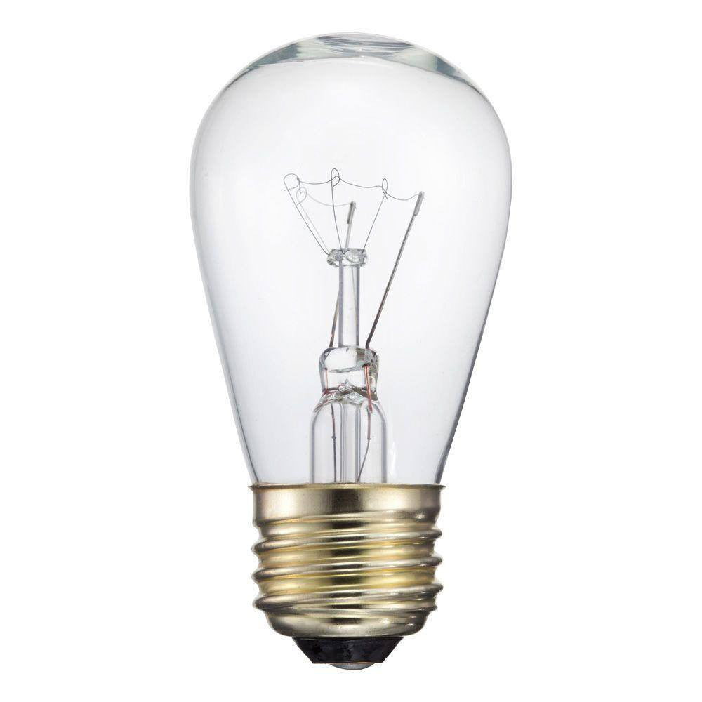 11 Watt Clear S14 Incandescent Sign Light Bulb