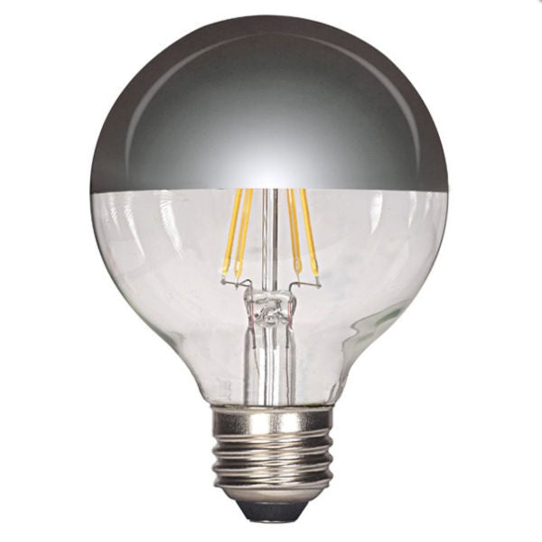 LED Silver Bowl G25 Globe Bulb - 4.5 Watt - Clear - 2700K