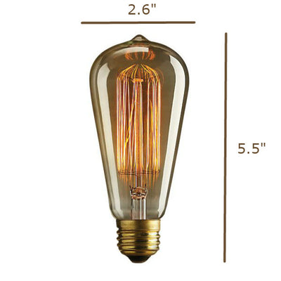 40 Watt Edison ST21 Size Diagram