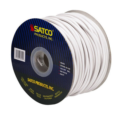 Pendant White Round 2 Conductor Cord- 100 FT. Spool