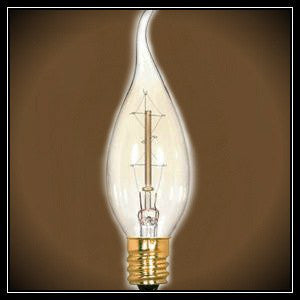 Flame Tip Carbon Filament Vintage Light Bulb - Clear 25 Watt