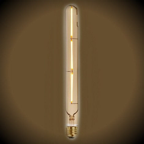 LED Filament Vintage Tubular T9 Bulb 11 in. Length