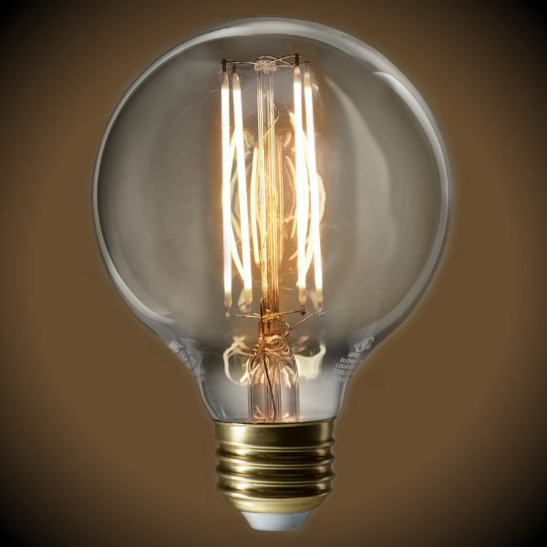 LED Filament Globe Bulb - Clear Glass - 60 Watt Equal