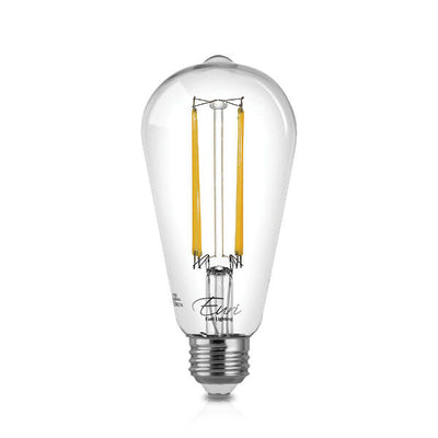 LED Filament Edison Light Bulb - ST19 Vintage - 4 Watt - 2700K - 6 Bulb Pack