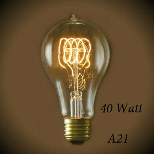 Victorian Quad Loop Filament Vintge Light Bulb A21 - 40 Watt