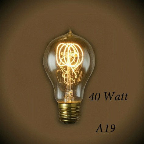 Victorian Loop Vintage A19 Light Bulb 40 Watt - Clear