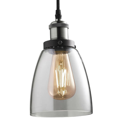 Industrial Clear Glass Pandant Lamp