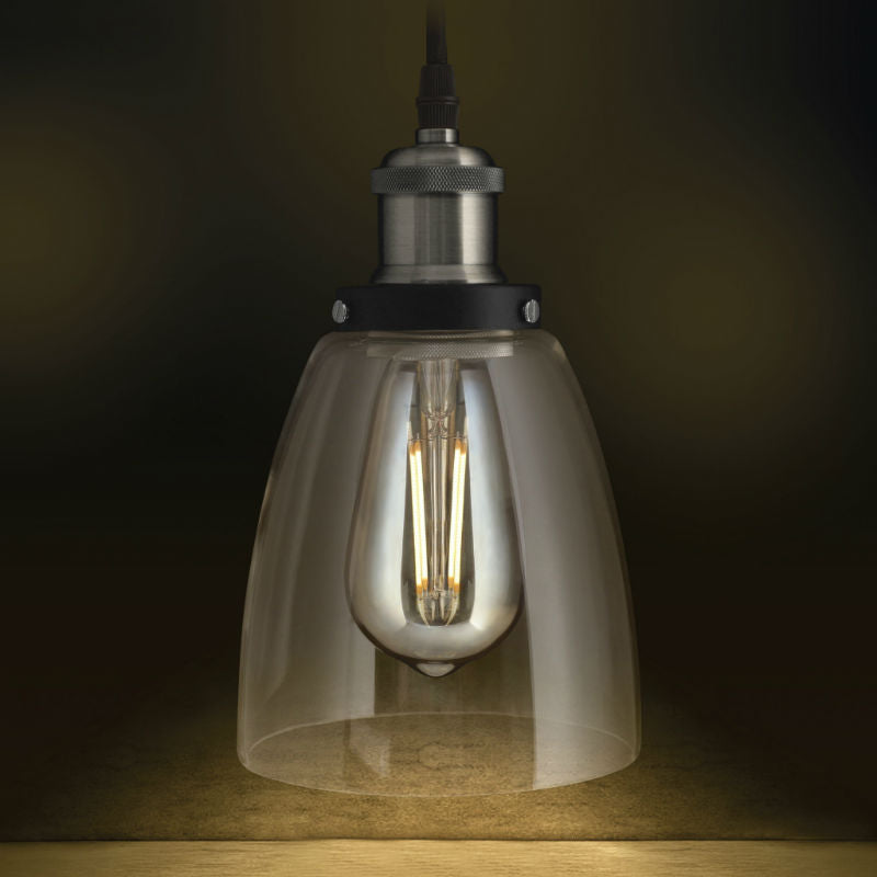Led vintage industrial pendant light clear glass nostalgicbulbs led vintage pendant light aloadofball Choice Image