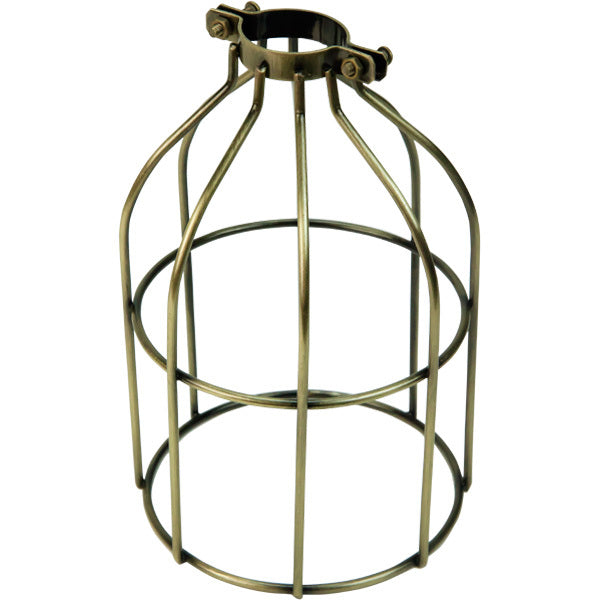 Antique Brass Open Style Premium Bulb Cage