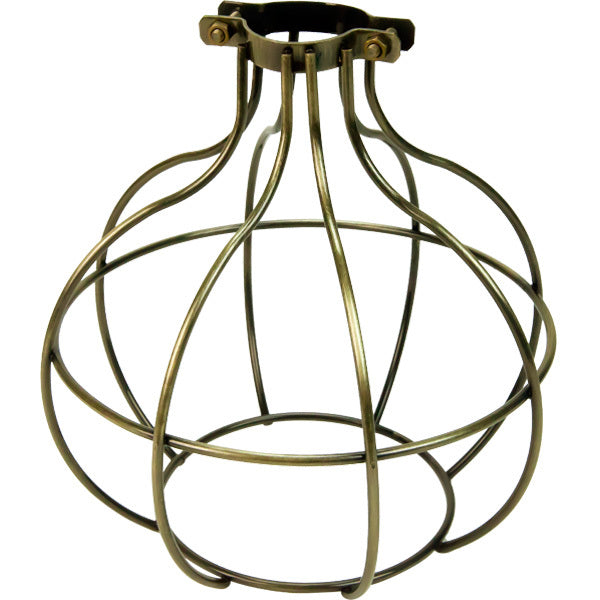 Antique Brass Sphere Bulb Cage