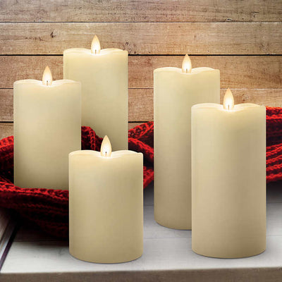 Real Wax Exterior LED Candles