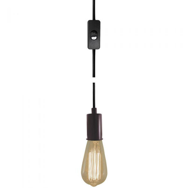 Bronze Plug-In Pendant Light