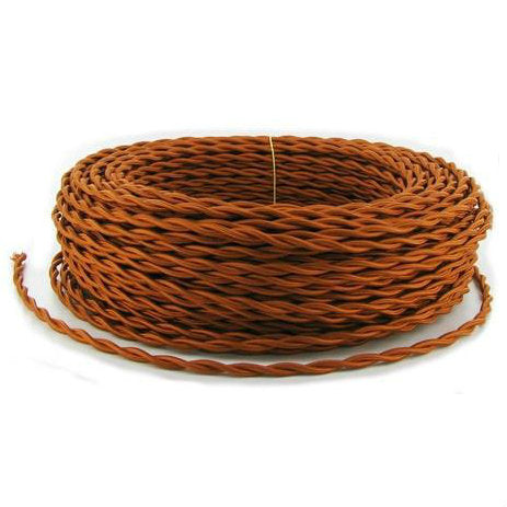 Copper Twisted cloth wire- Per ft. - 18 AWG