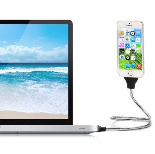 FLEXIBLE IPHONE AND ANDROID CHARGER DOCK CABLE & TRIPOD