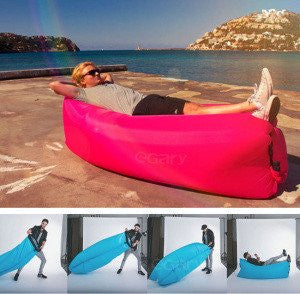 Banana Sleeping Bag - fills air in seconds