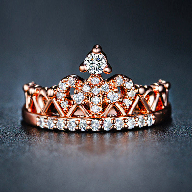 Premium Queen Crown Birthstone Ring