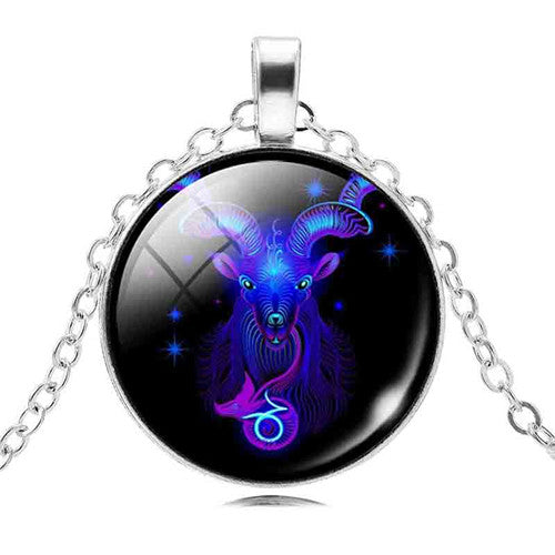 Zodiac Good Luck Charm Necklace