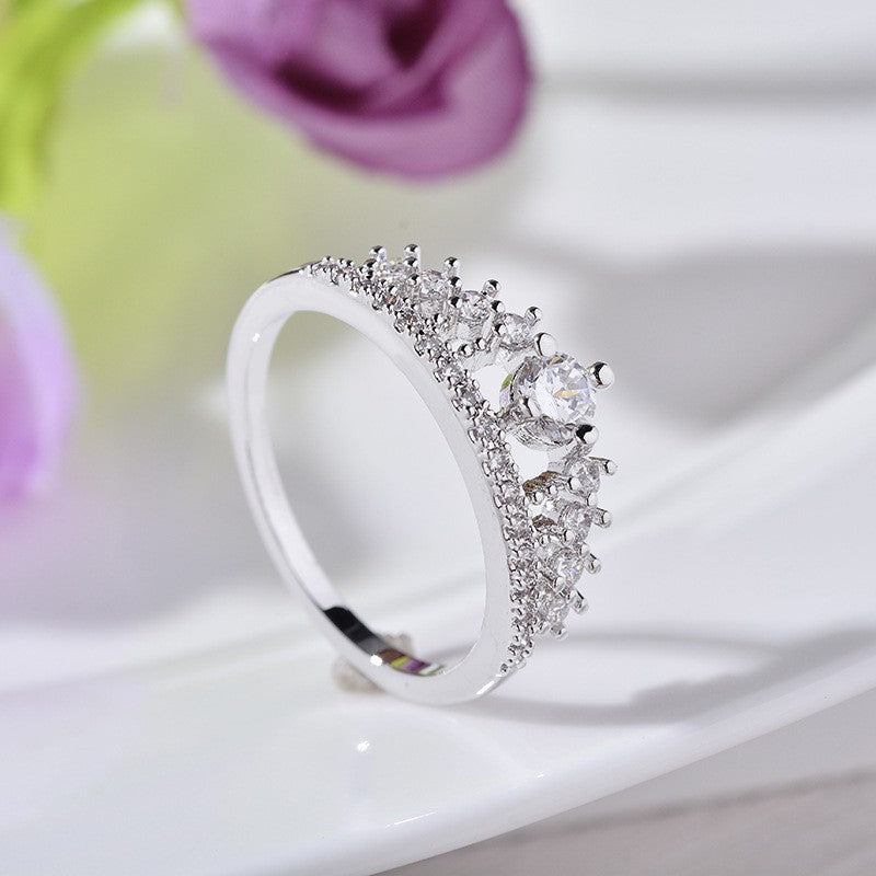 Queen Diadem Birthstone Ring
