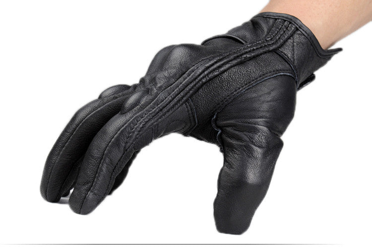 FLASHIFT LEATHER ARMORED MOTORCYCLE GLOVES