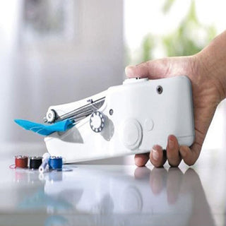 Mini Handheld Sewing Machine Portable Needlework Cordless Household Handy Stitch Electric Clothes Fabric Sewing Tools Overlock