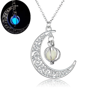 Luminous Moon Glow Stone Necklace