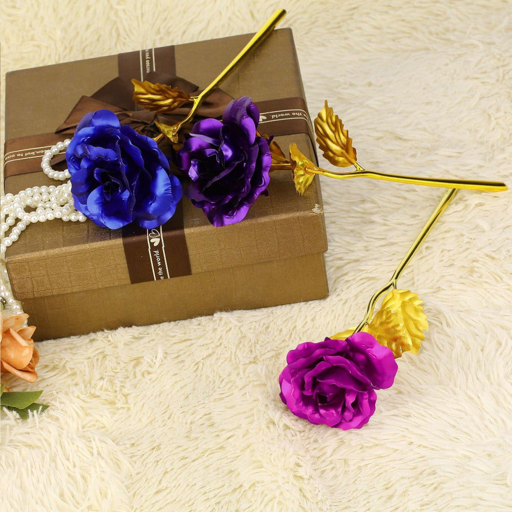 Golden 24K Rose with Gift Box