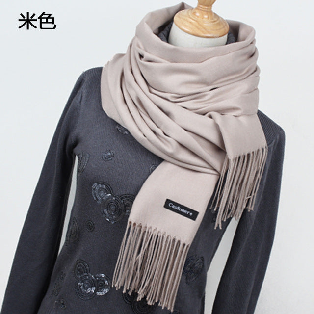 Winter Tassel Lady Scarf