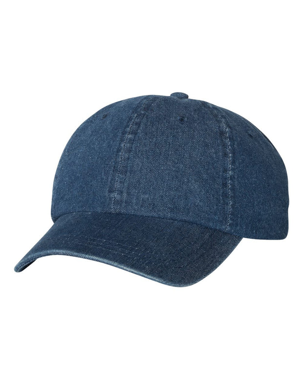 Monogrammed Washed Denim Cap - SJ's Southern Cuties
