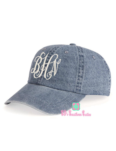 Monogrammed Denim Hat