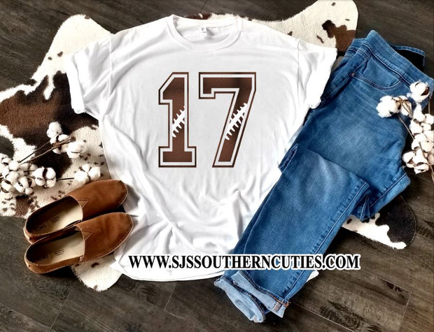 Personalized Football Number Shirt for Football Moms