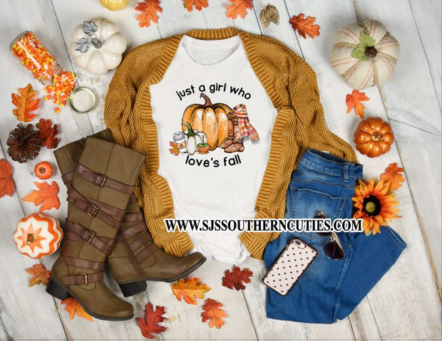 Just a Girl Who Love's Fall Shirt