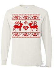 Monogrammed Love you Deerly Ugly Sweater Long Sleeve Shirt