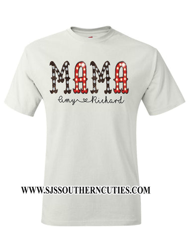 Personalized Mom shirt
