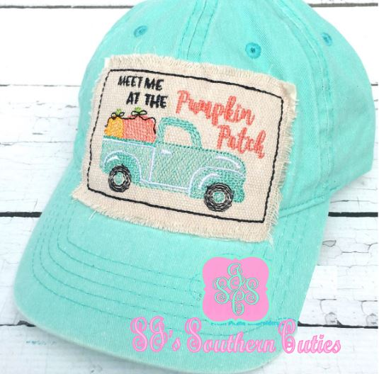 Meet Me at the pumpkin patch patch hat