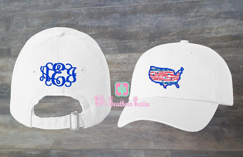 Personalized USA Applique Cap