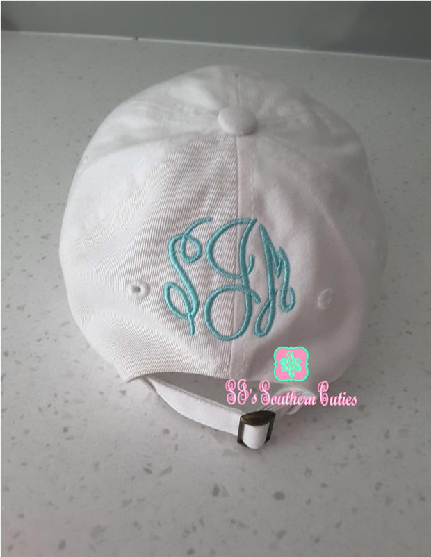 Monogrammed Paw Print Applique Hat - SJ's Southern Cuties