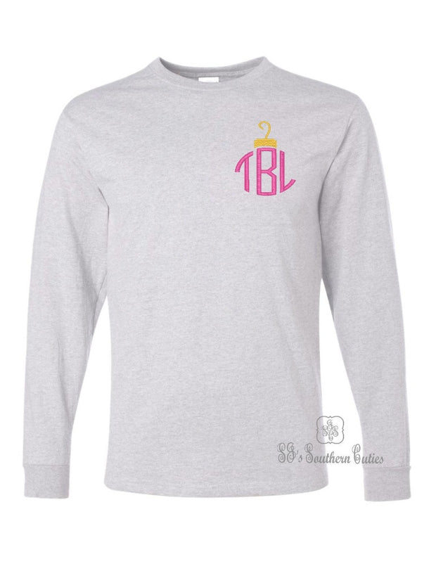 Monogrammed Ornament Long Sleeve Shirt