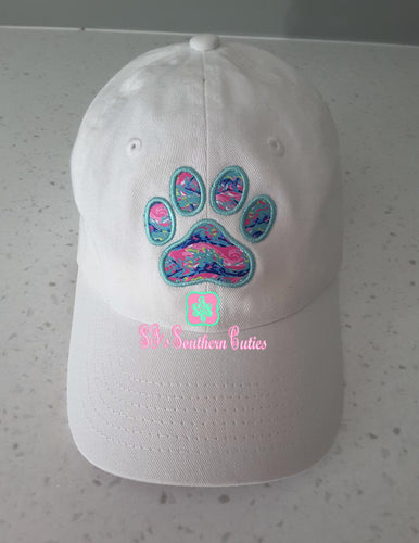 Personalized Lilly Paw Applique Cap