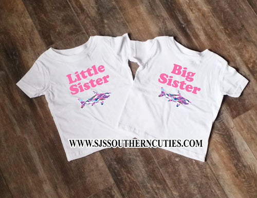 Sister Shark Sibling Set shirt