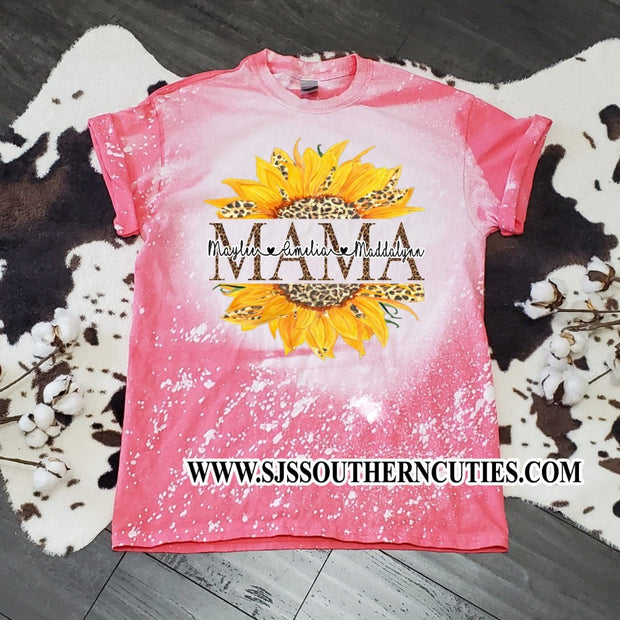 Personalized Mama Bleached Shirt